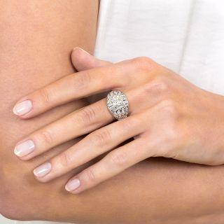 Art Deco 1.37 Carat Diamond Bombe Ring - GIA M SI1