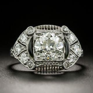 Art Deco 1.39 Carat Diamond Engagement Ring - 2