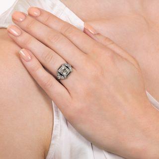Art Deco 1.39 Carat Diamond Engagement Ring - GIA M VS1
