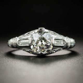 Art Deco 1.40 Carat Diamond Platinum Engagement Ring - GIA  - 2