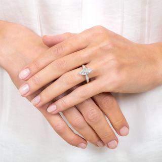 Art Deco 1.40 Carat Marquise Diamond Engagement Ring GIA - F VS1