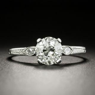 Art Deco 1.42 Carat Diamond Engagement Ring - GIA J VS2 - 2