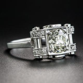 Art Deco 1.45 Carat Diamond Engagement Ring