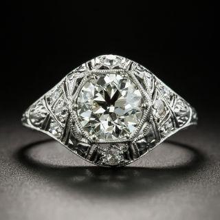 Art Deco 1.47 Carat Diamond Engagement Ring - GIA L VVS2 - 2