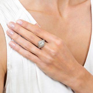 Art Deco 1.47 Carat Diamond Engagement Ring - GIA L VVS2