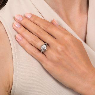 Art Deco 1.49 Carat Diamond Engagement Ring - GIA K SI1