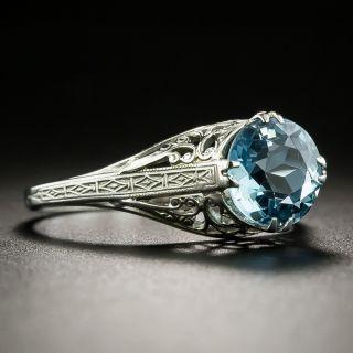 Art Deco 1.50 Carat Aquamarine Solitaire Ring