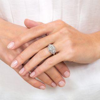 Art Deco 1.50 Carat Asscher-Cut Diamond Engagement Ring - GIA G SI1