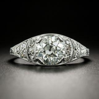 Art Deco 1.50 Carat Diamond Engagement Ring - GIA J VS2 - 2