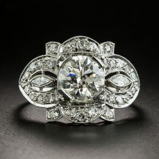 Art Deco 1.50 Carat Diamond Engagement Ring - GIA L VS1 - 2