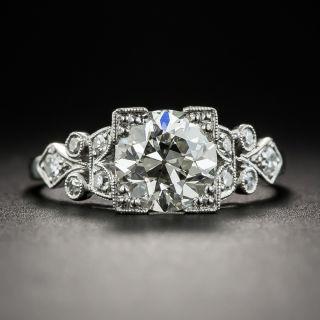 Art Deco 1.50 Carat Diamond Platinum Engagement Ring - GIA  J SI2  - 2
