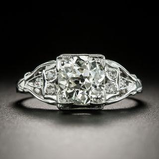 Art Deco 1.51 Carat Carat Diamond Engagement Ring - GIA L VS2 - 3