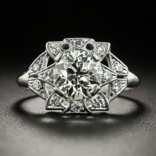 Art Deco 1.51 Carat Diamond Engagement Ring - GIA M VS1 - 2
