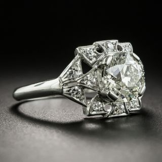 Art Deco 1.51 Carat Diamond Engagement Ring - GIA M VS1