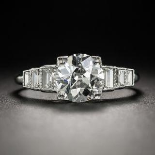 Art Deco 1.51 Carat Diamond Platinum Engagement Ring - GIA  I VVS2  - 2