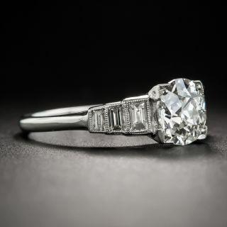 Art Deco 1.51 Carat Diamond Platinum Engagement Ring - GIA  I VVS2