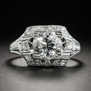 Art Deco 1.52 Carat Diamond Platinum Engagement Ring - GIA I VVS2 - 3