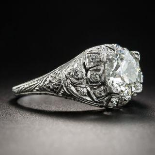 Art Deco 1.52 Carat Diamond Platinum Engagement Ring - GIA K SI1