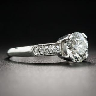 Art Deco 1.53 Carat Diamond Platinum Engagement Ring - GIA J VS2