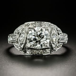 Art Deco 1.54 Carat Diamond Engagement Ring by Schless Bros. - GIA I SI1 - 3