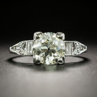 Art Deco 1.54 Carat Diamond Engagement Ring - GIA OP VS1 - 2