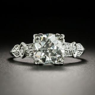 Art Deco 1.55 Carat Diamond Engagement Ring - GIA K VVS2 - 2