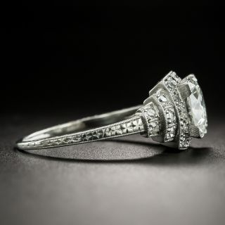 Art Deco 1.58 Carat Diamond Engagement Ring - GIA H VS2