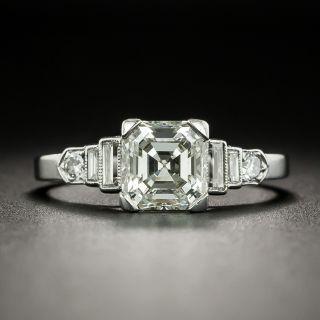 Art Deco 1.61 Carat Asscher-Cut Diamond Engagement Ring - GIA K VS2 - 1