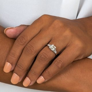 Art Deco 1.61 Carat Asscher-Cut Diamond Engagement Ring - GIA K VS2