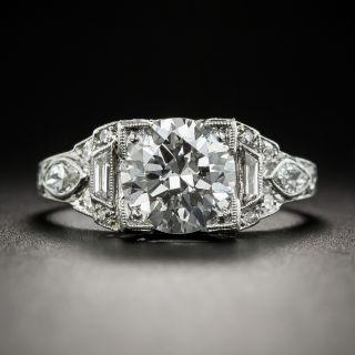 Art Deco 1.61 Carat Diamond Engagement Ring - 4