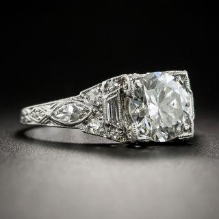 Art Deco 1.61 Carat Diamond Engagement Ring - GIA