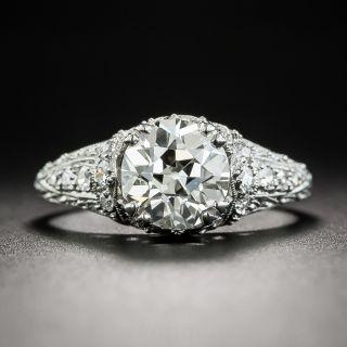 Art Deco 1.62 Carat Diamond Platinum Engagement Ring