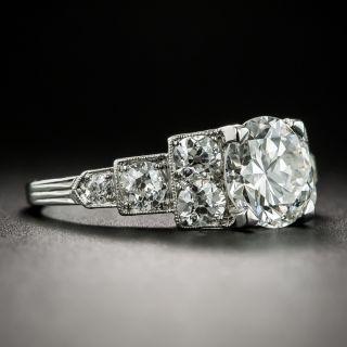 Art Deco 1.63 Carat Diamond Platinum Engagement Ring - GIA H VVS2
