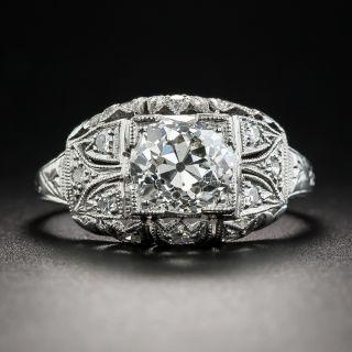 Art Deco 1.64 Carat Diamond Platinum Engagement Ring