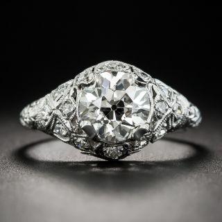 Art Deco 1.65 Carat Diamond Platinum Engagement Ring - GIA J VS2 - 2