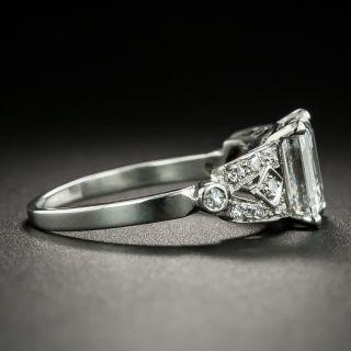 Art Deco 1.65 Carat Emerald-Cut Diamond Engagement Ring - GIA D VS1