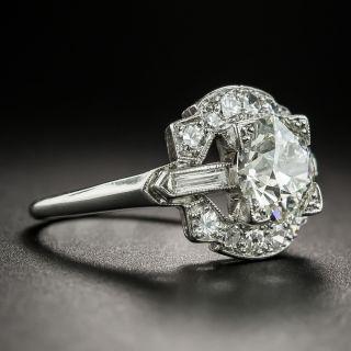 Art Deco 1.66 Carat Diamond Platinum Engagement Ring - GIA K VS2