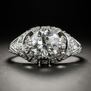 Art Deco 1.69 Carat Diamond Platinum Engagement Ring - GIA G VVS2 - 2