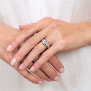 Art Deco 1.69 Carat Diamond Platinum Engagement Ring - GIA G VVS2