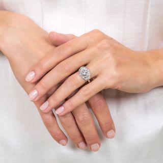 Art Deco 1.73 Carat Diamond Platinum Engagement Ring - GIA F VS2