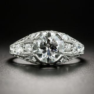 Art Deco 1.74 Carat Diamond Engagement Ring - GIA E VS1 - 2