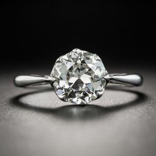 Art Deco 1.77 Carat Diamond Platinum Solitaire Engagement Ring - GIA J VVS2 - 2