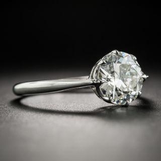 Art Deco 1.77 Carat Diamond Platinum Solitaire Engagement Ring - GIA J VVS2