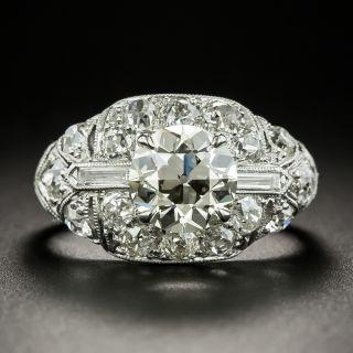 Art Deco 1.79 Carat Diamond Engagement Ring - GIA N VVS2 - 3