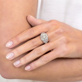 Art Deco 1.79 Carat Diamond Engagement Ring - GIA N VVS2