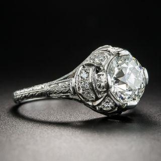 Art Deco 1.80 Carat Diamond Platinum Engagement Ring - GIA J SI2