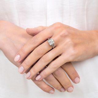 Art Deco 1.92 Carat Diamond Engagement Ring - GIA N VS2