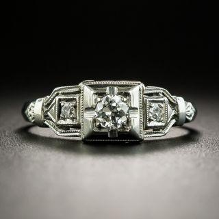 Art Deco .15 Carat Diamond Engagement Ring  - 1