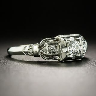 Art Deco .15 Carat Diamond Engagement Ring