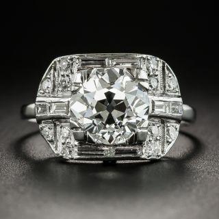 Art Deco 2.07 Carat Diamond Platinum Engagement Ring - GIA H VS1 - 2